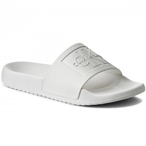 2019 meilleurs site officiel chaussures décontractées Claquette blanche r8837 calvin klein